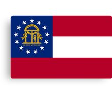 State Flags of the United States of America -  Georgia (U.S. state) Canvas Print