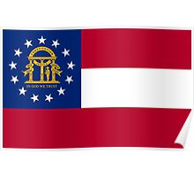 State Flags of the United States of America -  Georgia (U.S. state) Poster