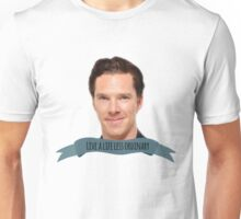 "benedict cumberbatch: ""live a life less ordinary"" Unisex T-Shirt"