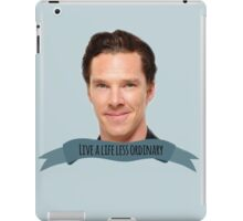 "benedict cumberbatch: ""live a life less ordinary"" iPad Case/Skin"