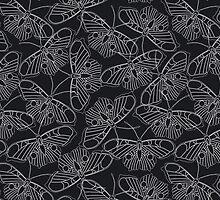 Pattern with butterflies by alijun