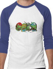 Teenage Mutant Ninja Minions Men's Baseball ¾ T-Shirt