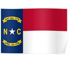 State Flags of the United States of America -  North Carolina Poster