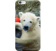 Playing the Ball - Baby Polar Bear iPhone Case/Skin