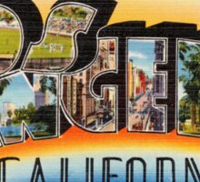 Los Angeles Vintage Travel Postcard Restored Sticker