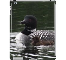 Mother Loon and baby iPad Case/Skin