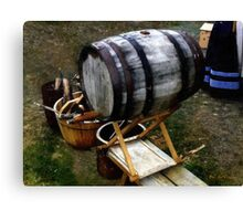 The Old Beer Barrel Canvas Print