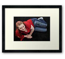 Jules reclining! Framed Print