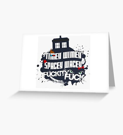 Doctor Who Catchphrases Greeting Card