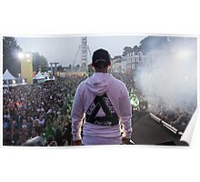 Palace Triangle / Live Artist Wearing Hoodie Poster