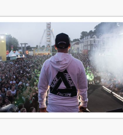 Palace Triangle / Live Artist Wearing Hoodie Sticker