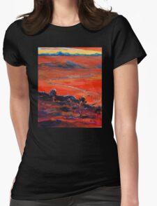 The Living Desert, Broken Hill,S.A. Sunset.  Womens Fitted T-Shirt
