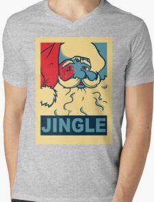 JINGLE Mens V-Neck T-Shirt