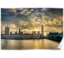 Palace of Westminster - London Poster