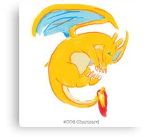 #006 Charizard Canvas Print