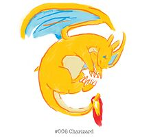 #006 Charizard Photographic Print