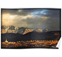 Sun Sets on the Draper Temple In Utah Poster