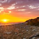 Ile d'Oleron, sunset  on the beach in France by 7horses
