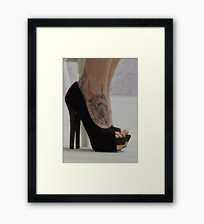 Heels With The Dragon Tattoo  Framed Print