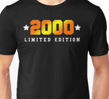 2000 Limited Edition Birthday Shirt Unisex T-Shirt