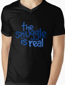 The snuggle is real Mens V-Neck T-Shirt