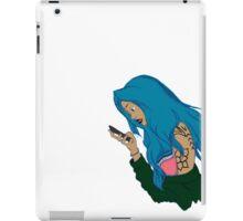 BLUE HAIR GIRL DESIGN iPad Case/Skin