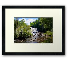 High Falls - Dupont Forest Framed Print