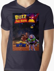 Toy Story Buzz And Woody Mens V-Neck T-Shirt