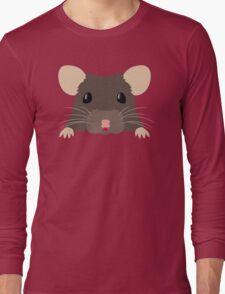Cute peeking pet RAT Long Sleeve T-Shirt