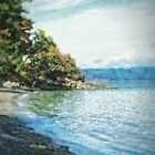 Resting Beach (painted) by James Zickmantel