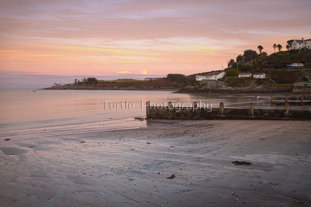 Abersoch Machroes beach and old lifeboat station by Turtle  Photography