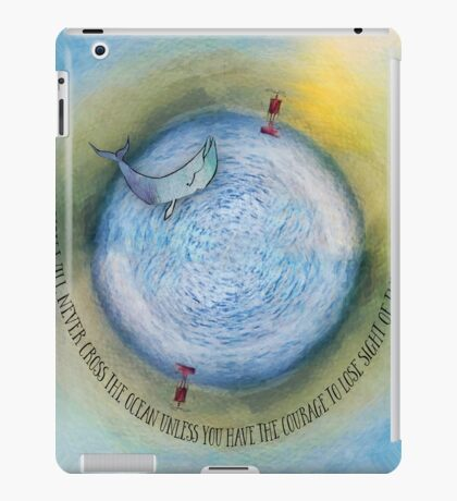 Courage to Lose Sight of the Shore Orb Mini World iPad Case/Skin