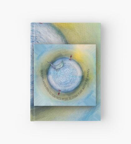 Courage to Lose Sight of the Shore Orb Mini World Hardcover Journal