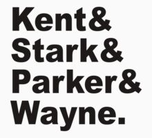 Kent&Stark&Parker&Wayne. by maniacreations