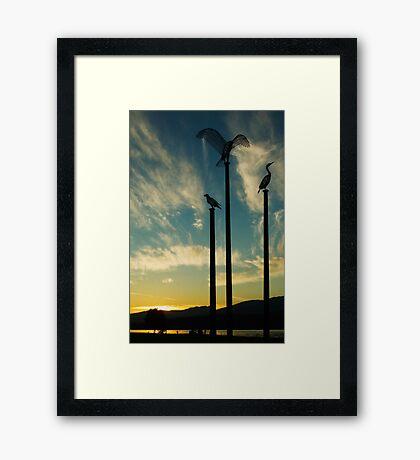 Inlet at Sundown Framed Print