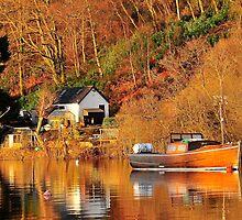 Mail Boat,Balmaha,Loch Lomond,Scotland. by Jim Wilson