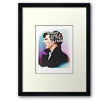 """Nobody Could Be That Clever"" BBC Sherlock  Framed Print"