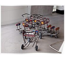 Saturday afternoon: meeting of 7 luggage carts Poster