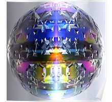 Cut Crystal With Colour Poster