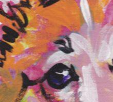 Pembroke Welsh Corgi Dog Bright colorful pop dog art Sticker