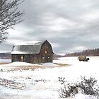Winter Day at the Barn by Gary Smith
