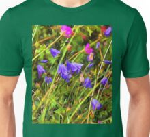 Harebells and Geraniums textured Unisex T-Shirt