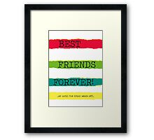 BFFs Framed Print
