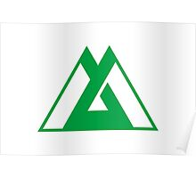 Flag of Toyama Prefecture Japan Poster