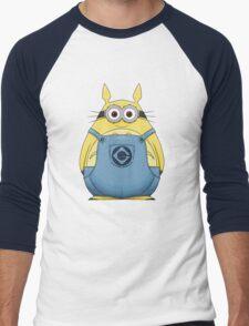 Minion Totoro Men's Baseball ¾ T-Shirt