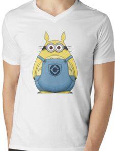 Minion Totoro Mens V-Neck T-Shirt