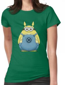 Minion Totoro Womens Fitted T-Shirt