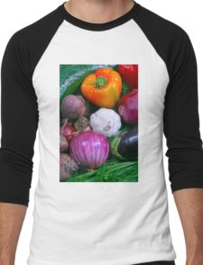 Food Men's Baseball ¾ T-Shirt