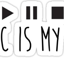 Music Is My Life - Black Sticker