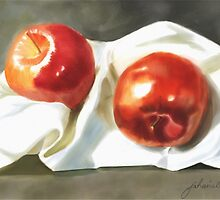 Two Red Juicy Ones  by Joan A Hamilton